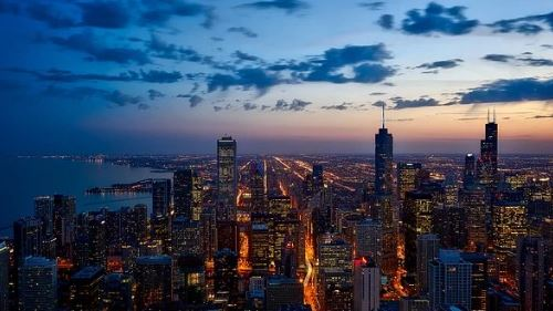 this is a picture of the skyline of chicago